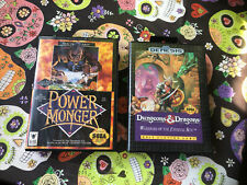 Dungeons & Dragons 🐉 / Power Monger - Sega Genesis - Case & Game