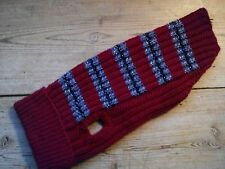 """Hand knitted dog coat, jumper approx. 16.5 """" inch including collar , New"""