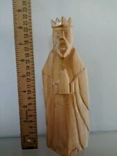 Wise man alone Carved majo wood Religious Statue
