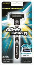 Gillette Mach3 Mach 3 Classic Razor handle + New + 1 Pre-loaded Cartridge