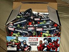 "MARVEL Diorama Blind Bag Display Box of 12 Mini 2"" Action Figures Deadpool Venom"