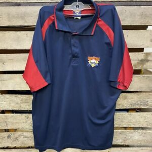 Cooperstown Dreams Park Polo Shirt MLB Blue/Red Men's Size XL Baseball Jersey