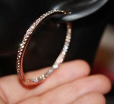 hoop circle round earrings gemstone rose gold filled Cz jewelry classic cocktail