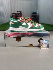 Nike Dunk Low x OFF-WHITE Pine Green Size 7