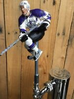 LA Kings Hockey Tap Handle Luc Robitaille NHL Beer Keg White Jersey Los Angeles