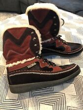 Womens Tecnica Fur Boots Size Euro 38 Brown Suede Very Nice