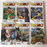 Dragon Ball Super Vol 1 2 3 4 5 6 Set Manga Japanese Import 1-6