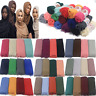 90*180CM Cotton Blend Viscose Maxi Crinkle Hijab Scarf Scarves Muslim Shawls New