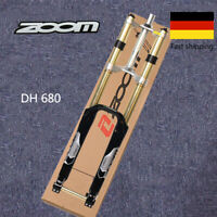"""ZOOM 26"""" MTB Bike Federgabel Gabeln 180mm Federweg DH680 Disc Gabel Durch Achse"""