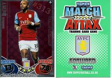DARREN BENT ASTON VILLA Forward 39 Topps MATCH ATTAX Football TRADING CARD Green