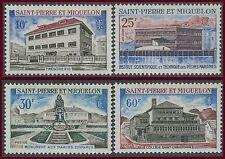 SAINT PIERRE ET MIQUELON N°387/390** Monuments TB, 1969 Sc#385-388 MNH
