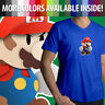 Super Paper Mario Bros Nintendo Cute Video Game Mens Unisex Tee V-Neck T-Shirt