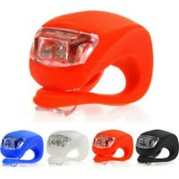 1X Silicone Bike Bicycle Cycling Head Front Rear Wheel LED Flash Light Lamp