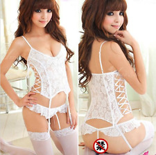 Donna sexy/Sissy esotico Costume intimo lingerie in pizzo (Int)