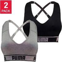 PUMA Women's Seamless Sports Bra Removable Cups Moisture Wic