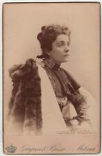 Cabinet Photo portrait opera Gerda Grönberg - Rove c. 1880 G Bossi Very RARE