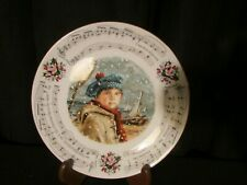 Vintage Royal Doulton 1986 Christmas Carol Plate I Saw Three Ships Music