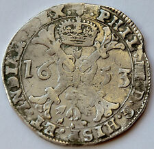 Patagon 1653, Belgium, Duchy of Brabant, Philip IV of Spain, Silver 28.1 g