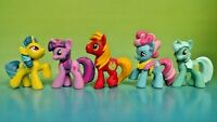 "5 G4 My Little Pony MLP Brushable 1"" Inch Rare Horse Bundle Mini Ponies Unicorn"