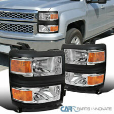 FOr Chevy 14-15 Silverado 1500 Pickup Clear Replacement Headlights Head Lamps