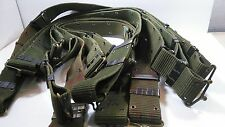 Vintage US Army pistol belt metal hook Military web gear utility surplus Size L