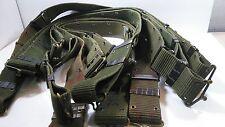 Vintage US Army pistol belt metal hook Military web gear utility surplus Size L