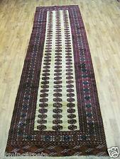 A SENSATIONAL OLD HANDMADE TURKAMEN PERSIAN RARE RUNNER (320 x 93 cm)