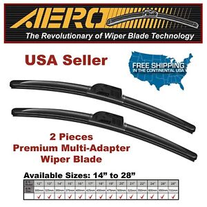 AERO Volkswagen CC Eos Golf Jetta GTI Beam Windshield Wiper Blades (Set of 2)