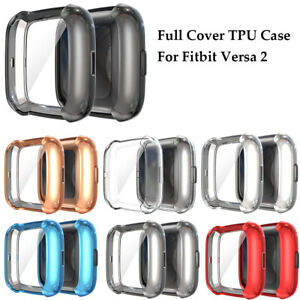 Case For Fitbit Versa 2 Screen Protector Ultra Slim Cover TPU Soft Shockproof