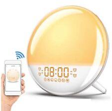 Smart Sunrise Alarm Clock WakeUp Light Sleep Digital Alexa Voice Control Colors