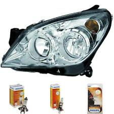Headlight Left Opel Astra H Built 04-10 Chrome Hella H7 +H1 Incl. Lamps 1373477
