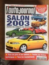 L'auto journal N° 599 de juillet 2002 Spécial salon 2003 - CA24