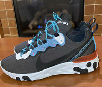 Nike React Element 55 SE Sneakers Anthracite/Blue Fury CD2153-001 Men's SZ 9 NEW