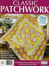 CLASSIC  PATCHWORK  NO 2. MAGAZINE 2016.  PATTERN SHEET ATTACHED