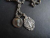 medaille religieuse Vintage Chain Marie Notre Dame 29.5 cm  MR 0514