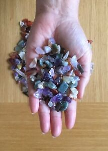High grade crystal chips 3-10 mm Mixed, Amethyst or Rose Quartz 50 to 500 gram