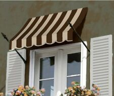 """Awntech 4' New Orleans Window/Entry Awning, 56"""" x 32"""", Brown/Tan"""