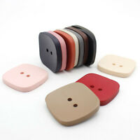 10Pcs 21-29mm 2 Holes Square Buttons Sewing Craft DIY Wool Trench Coat Buttons