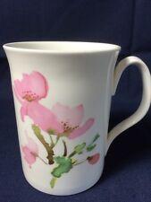 Queensway Stafford England Fine Bone China Pink Floral Coffee Tea Cup Mug