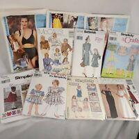 Lot of 11 Vintage Sewing Patterns  Simplicity Butterick McCall's Daisy Kingdom