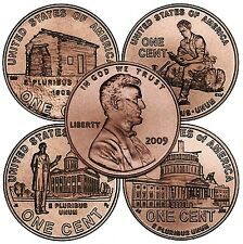 Complete Sets of 8 Lincoln Bicentennial 2009 Cent Pennies P & D Mint, SEO