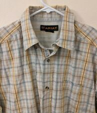 Ariat Large Long Sleeve Shirt Plaid Mens Button Western L