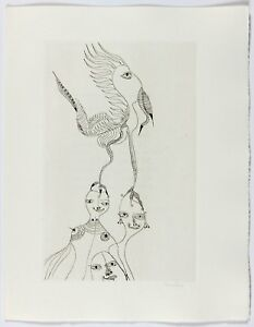 UNICA ZURN - 1967 Hand Signed Etching - Oracles et Spectacles - plate 3