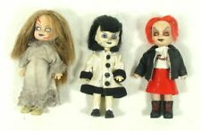"Three 4"" Mezco Mini LIVING DEAD DOLLS  Posey Lottie Sheena Horror Series 1 & 3"