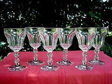 VAL SAINT LAMBERT LALAING 6 WINE GLASSES WEINGLÄSER VERRE A VIN CRISTAL TAILLÉ