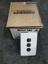 10x Clipsal Sc2034c-we Slimline Four Gang Switch Cover Plate