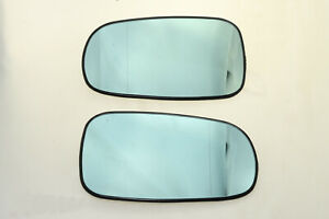 Aspherical Blue Tinted Side Mirror Glass FOR Saab 9-3 93 9-5 95 2003-2008 L+R