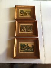 3 Small Currier & Ives Pictures