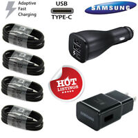 For OEM Samsung Galaxy Note 8 9 10Plus/S8 Fast Car Wall Charger Type-C Cable Lot