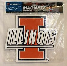 "University of Illinois Fighting Illini Indoor/Outdoor Car Magnet 10"" x 10"""